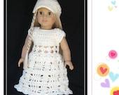 PATTERN in PDF -- Crocheted doll dress for American Girl, Gotz or similar 18 inches dolls -- Doll Dress 13