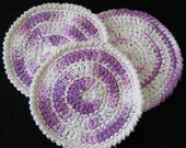 dish cloth pattern wash cloth PATTERN Crochet circle dishcloth flat dish cloth, coaster, potholder -- Dishcloth 45
