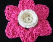 PATTERN in PDF crocheted flower applique -- Orchid