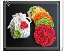 PATTERN crochet face scrubbie or facial cloth -- 2 patterns