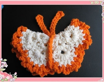 PATTERN crocheted Face Cloth/scrubbie -- Butterfly