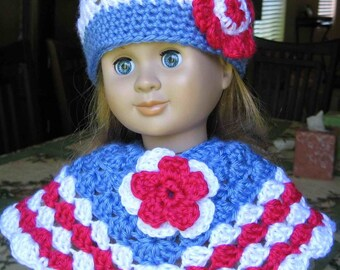 Pattern in PDF -- crocheted doll hat for American Girl and Gotz or similar 18 inches dolls (Doll Hat 3)