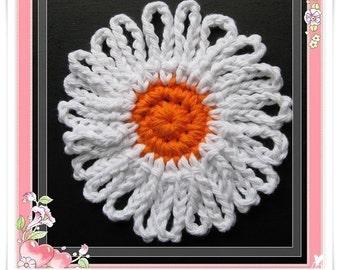 PATTERN crocheted flower -- Daisy