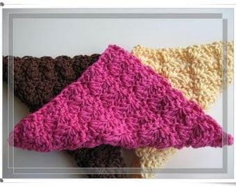 Pattern Crocheted Easy, quick, thick and dense dishcloth/washcloth/ragcloth -- Shell