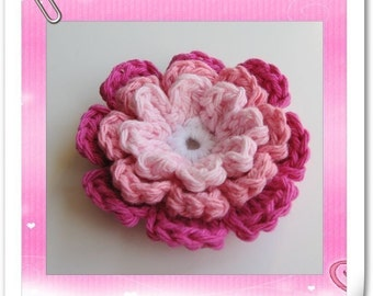 PATTERN crocheted large flower applique -- Spring