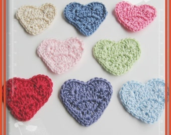Pattern in PDF crocheted heart applique