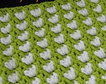 Pattern in PDF -- Crochet dishcloth washcloth ragcloth, thick and texture dishcloth facial cloth -- Dishcloth 64