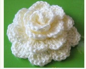PATTERN in PDF crocheted flower applique, Motify, Rose Flower -- Flower 23