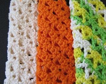 PATTERN  in PDF -- Easy Crochet dishcloth flat dish cloth thick, dense dishcloth -- Dishcloth 46