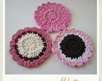 Pattern in PDF -- Super Easy crochet dishcloth washcloth ragcloth circle dishcloth facial cloth Coaster circlr -- Dishcloth 20