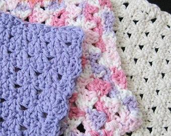 PATTERN  in PDF -- Crochet dishcloth washcloth ragcloth -- Dish cloth 35