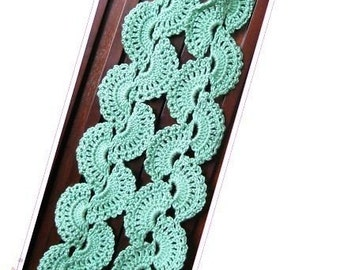 PATTERN in PDF -- Crocheted Shell Scarf  -- scarf 9