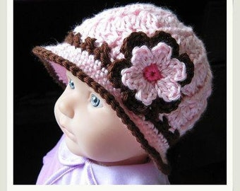 PATTERN in PDF -- Crocheted Baby Cloche (Cloche 12) -- 0 - 3 months and 3 - 6 months