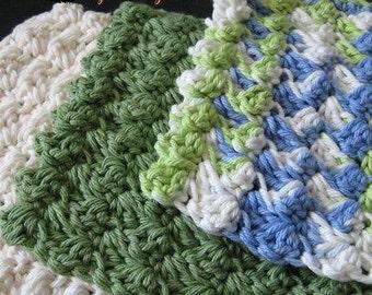Pattern in PDF -- Crocheted dishcloth/washcloth/ragcloth textured dish cloth -- Dishcloth 24