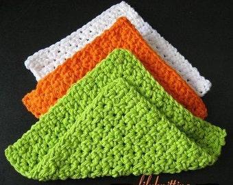 PATTERN  in PDF -- crochet dishcloth (Dishcloth 11) -- Free shipping