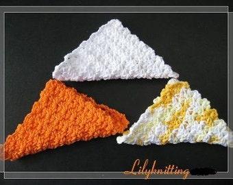 Pattern in PDF -- Crocheted Easy dishcloth/washcloth/ragcloth -- Dishcloth 8