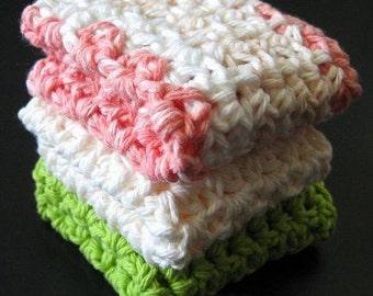 PATTERN  in PDF -- crochet dishcloth washcloth ragcloth -- Dish cloth 33