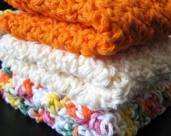 Pattern in PDF -- Super Easy crochet dishcloth washcloth ragcloth -- Dishcloth 16