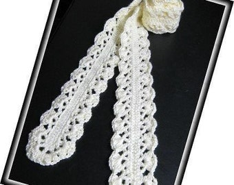 PATTERN in PDF -- crocheted scarf for baby or lady -- Scarf 11