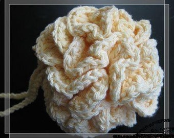 puff pattern corcheted bath puff Pattern crocheted cotton bath/shower puff -- Free shipping