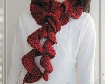 PATTERN in PDF -- crocheted scarf  ( Scarf 12 )