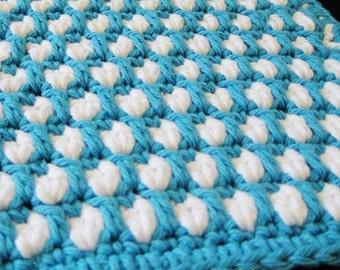 Pattern in PDF -- Crocheted dishcloth/washcloth/ragcloth thick dishcloth -- Dishcloth 66