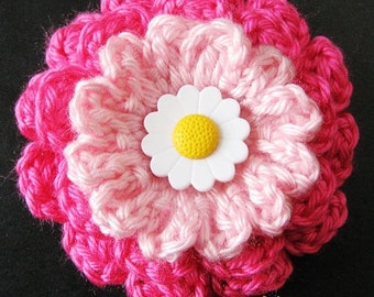 PATTERN in PDF crocheted flower applique, Motify, Rose Flower -- Flower 53