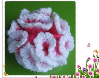 PATTERN crocheted large flower applique -- Dianthus