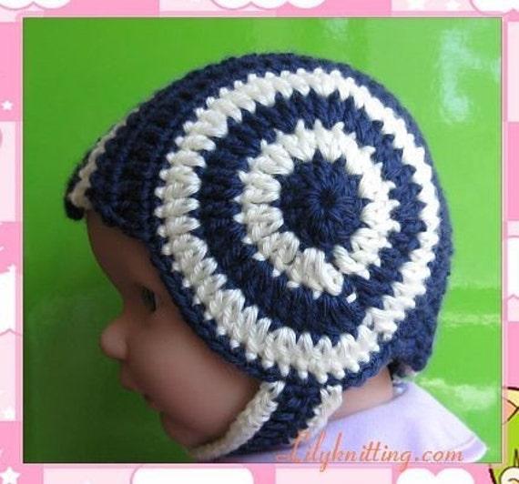 Soft Shells Baby Earflap Hat Crochet Pattern : Pattern in PDF Crocheted baby earflap beanie hat earflap hat