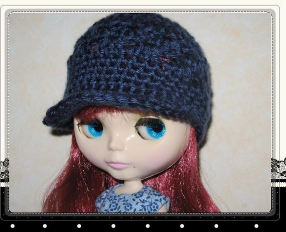 PATTERN Crocheted cap/hat for Blythe doll Doll Hat 10