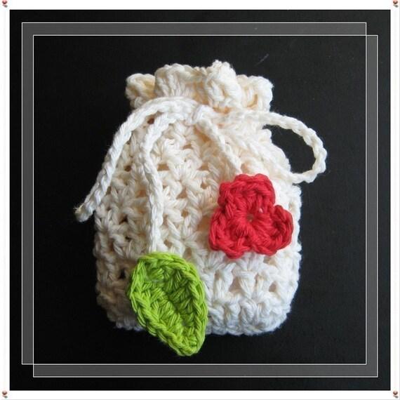 ... crochet soap saver, bag, gift bag, pouch, sachet, purse, snack, bag