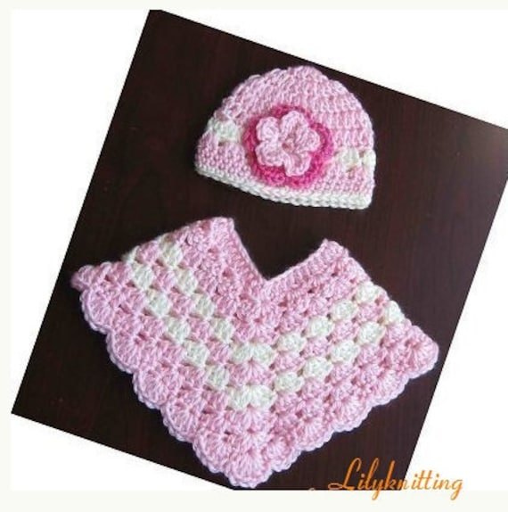 Free Crochet Pattern For A Baby Cowgirl Outfit : PATTERN Crocheted baby toddler Poncho Poncho 1 6 9