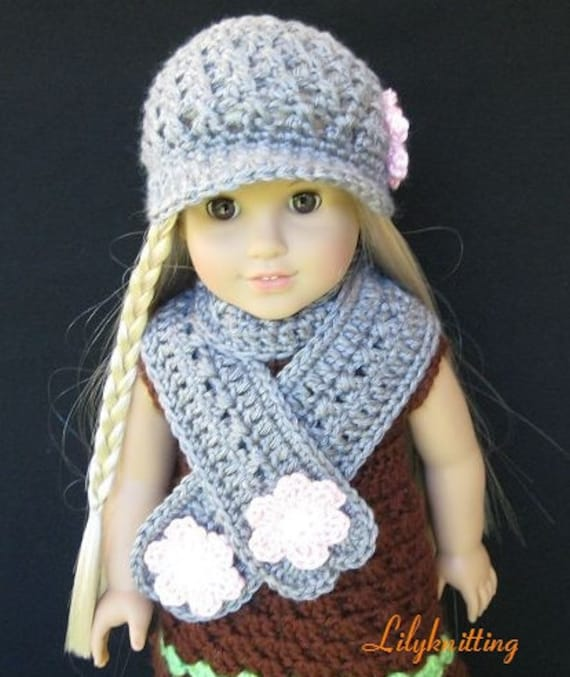 pattern in pdf crocheted doll scarf for american girl