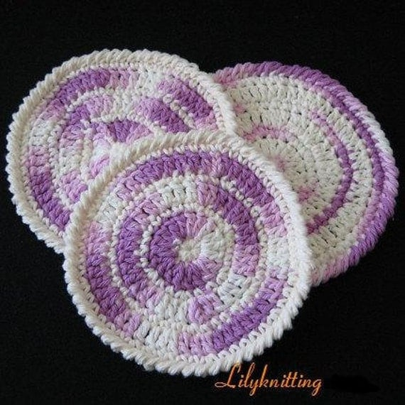 Free Online Crochet Dishcloth Patterns : CROCHET CIRCULAR DISHCLOTH PATTERN FREE CROCHET PATTERNS