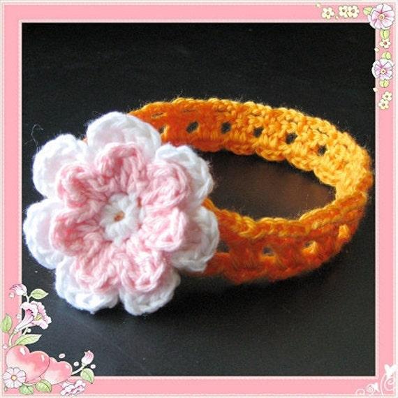 PATTERN in PDF Crocheted flower headband in ALL sizes -- Headband 29