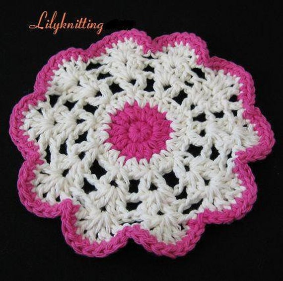 PATTERN  in PDF -- Easy Crochet dishcloth, Coaster, potholder, dish cloth, Mother's day Gift , placemate (Dishcloth 38) -- Free shipping