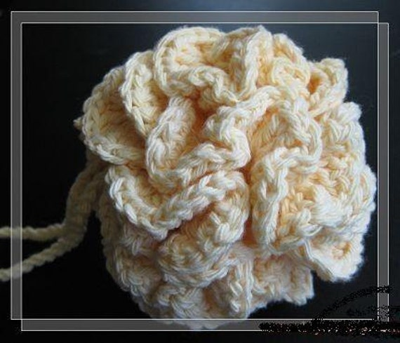 Free Crochet Pattern For Bath Pouf : Pattern in PDF crocheted cotton bath/shower puff by ...
