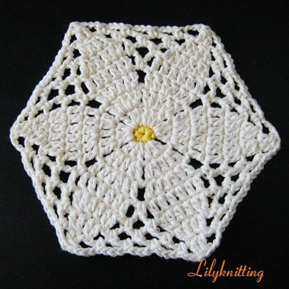 PATTERN  in PDF -- Crocheted circle dishcloth/washcloth, hot pad, potholder, coaster, wash cloth -- Dishcloth 68