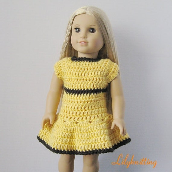 PATTERN in PDF crocheted doll skirt fits American girl, Gotz, My twin or similar 18 inches dolls -- Doll Dress 21