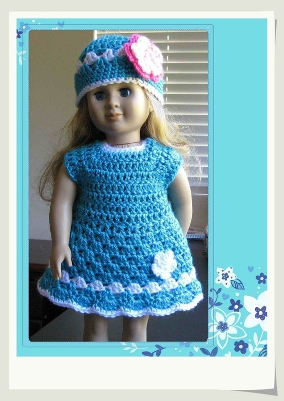 Baby Turtle Amigurumi Pattern : Pattern crocheted doll clothes dress for American Girl Gotz