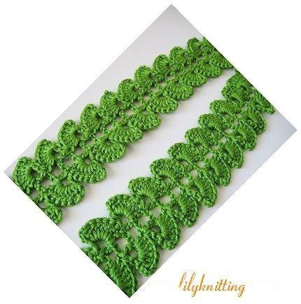 Crochet Scarf Pattern Leaf : PATTERN in PDF Crocheted Scarf Leaves Scarf scarf 13