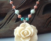 Vanilla Mint Wire Wrapped Necklace