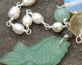 Swimming Upstream Necklace