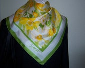 Reserved for A. Marc Vintage Field of Flowers S M Kent Signature Avon Water Repellent Scarf Sunny Spring Colors
