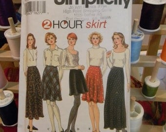 Simplicity Skirt Pattern N 9765 Sizes 10 thru 14 Uncut (2 hour skirt)