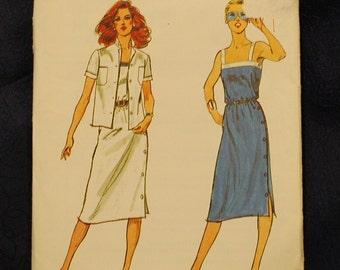 Vintage Butterick Misses Dress and Jacket Pattern n 3038 Uncut Size 10