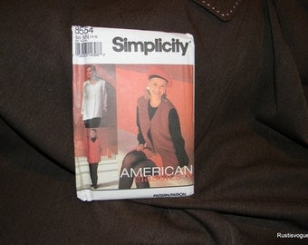 Simplicity American Classics Pants or Shorts and top or Vest Pattern N 8554 Uncut, Sizes 10 thru 16