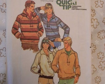Vintage Simplicity Mens and Womens Top Pattern N 6311 Sizes 42 and 44 Mens and Size 10 in Womens Uncut