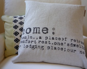 Home Pillow Industrial Chic Modern Cotton Pillow Cover...Featured on HGTV...Made to Order...Pillow Insert Sold Separately