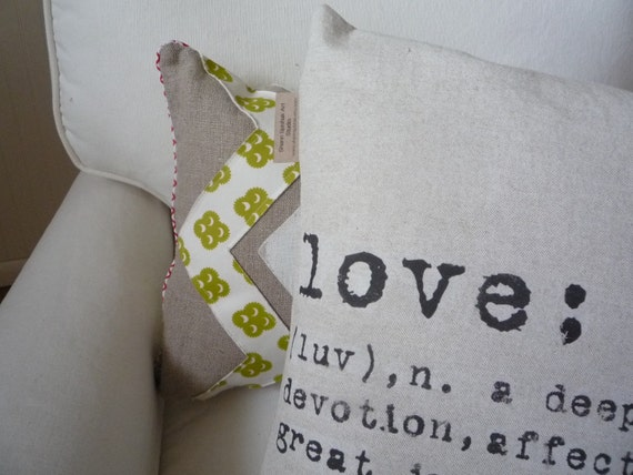 Decorative Pillow Cover Love Joy Hope Cotton Modern Accent